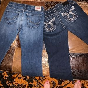 Incredible deal on 2 pair! BIG STAR JEANS Size 29